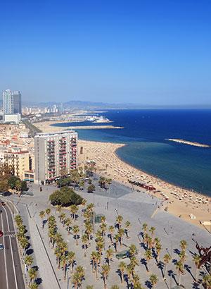 Steden met strand: Barcelona