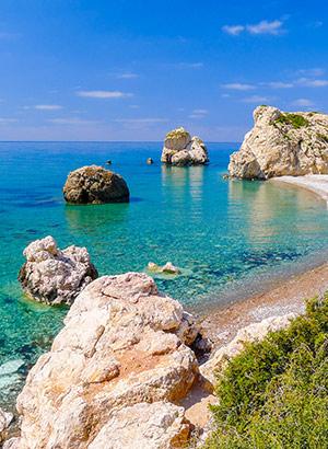 Zonvakantie Cyprus: Rots van Aphrodite