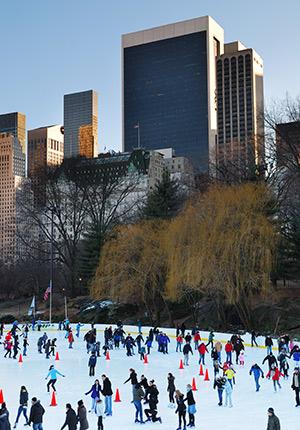 Kerst in New York, ijsbaan