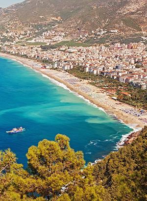 Mooiste stranden Turkije: Cleopatra Beach