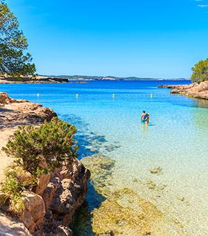 Ibiza met kinderen: stranden