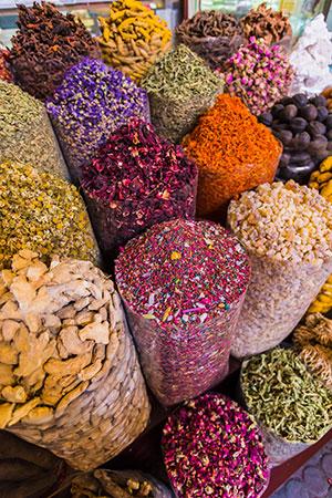 Winkelen in Dubai: spice souk
