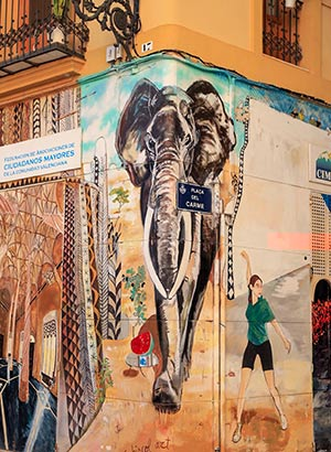 Herfst in Valencia: street art