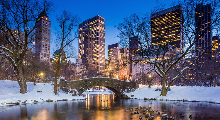 Goedkoop naar New York in de winter
