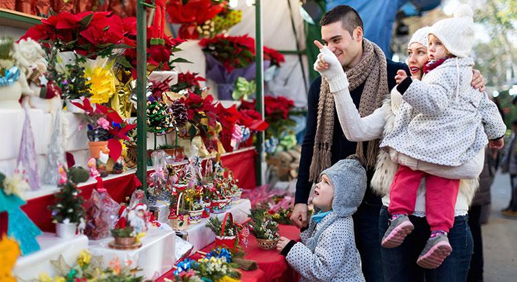 kerstmarkten met kinderen