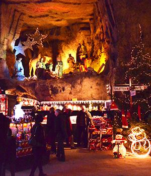 kerstmarkten in Nederland: Gemeentegrot in Valkenburg