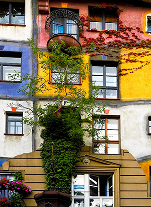 Romantisch Wenen: Hundertwasser Haus