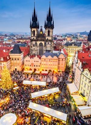 Winterse steden Praag