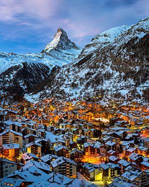 Wintersport in Zwitserland, Zermatt