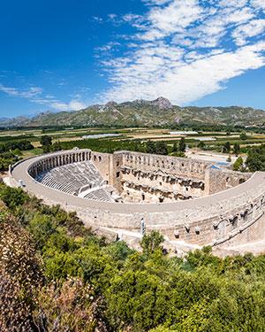 Aspendos, een van de mooiste antieken steden in Turkije
