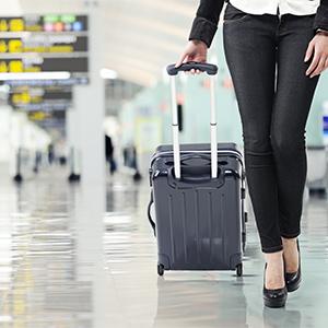 Alleen handbagage inchecken