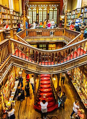Bibliotheek Lello & Irmao tijdens een stedentrip Porto