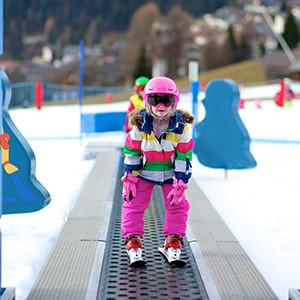 Wintersport met kinderen, les