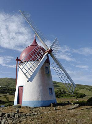 Azoren: de windmolens in Graciosa