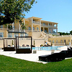 Mooiste stranden Zakynthos: Porto Limnionas Beach, Mabely Grand Hotel