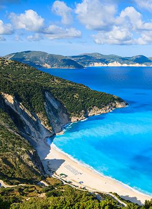 Mooiste stranden Griekenland: Myrtos Beach, Kefalonia