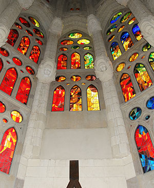 Sagrada Família, glas in lood ramen