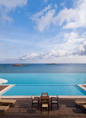 Infinity zwembaden, Griekenland (Alimounda Mare)