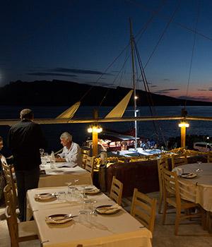 Doen op Santorini, zonsondergang