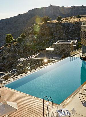 Infinity zwembaden Griekenland, Lindos Blue