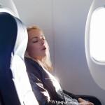 Slapen in het vliegtuig