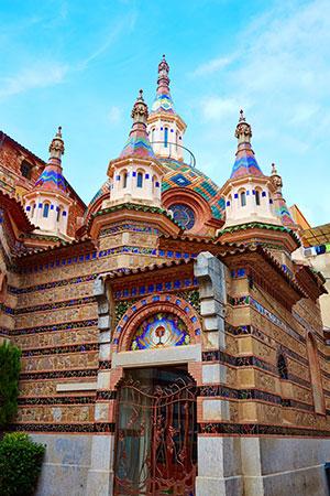 Zonvakantie Costa Brava: kerkje in Lloret de Mar