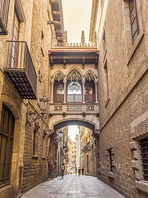 Gratis doen in Barcelona; Barro Gotic