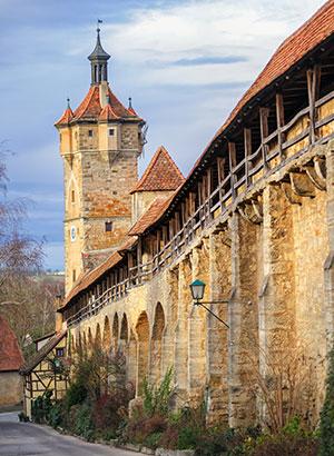 Rothenburg ob der Tauber: stadsmuren