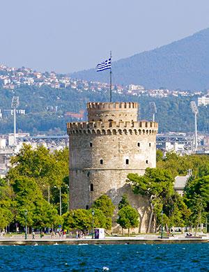 Stedentrip Thessaloniki, witte toren