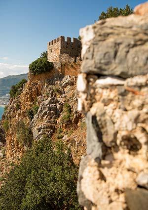 Bezienswaardigheden Alanya, kasteel