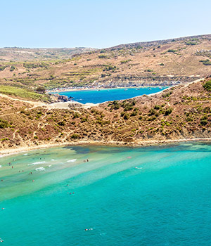 Mooiste stranden Malta: noorden