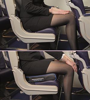 Spacerseat: meer beenruimte in het vliegtuig