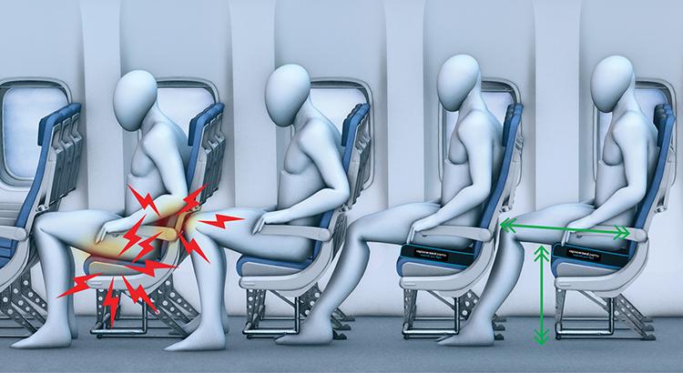 Spacerseat, meer beenruimte in het vliegtuig