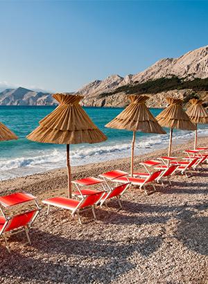 Mooiste stranden Kroatië: Krk