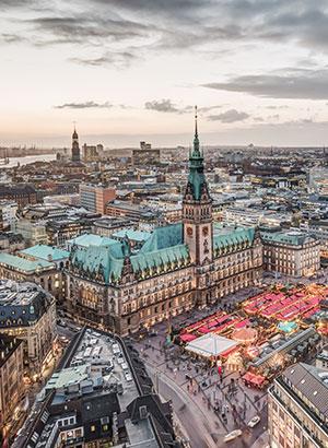 Kerstshoppen in Europa: Hamburg