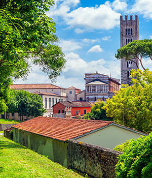 Lucca stadswallen