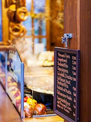 Duitse kerstmarkten: eten