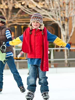 Duitse kerstmarkten: schaatsen