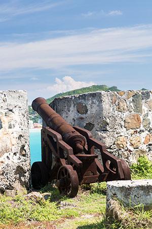 Tropisch vakantiegevoel Sint Maarten: Fort Amsterdam