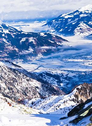 Vroeg wintersporten: Kaprun