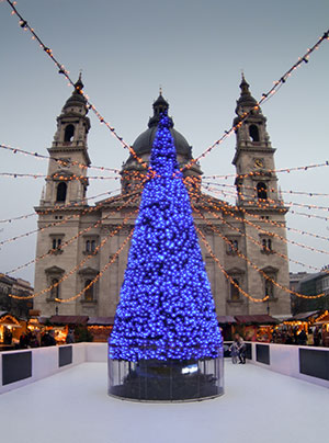 Boedapest in de winter: kerst