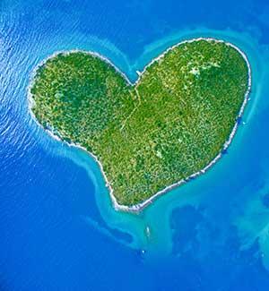 eilanden in kroatie