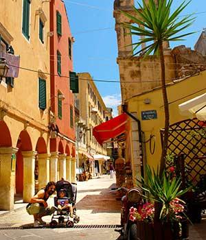 Familie-eilanden Europa; Corfu