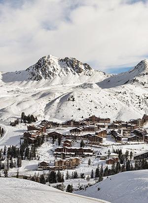Wintersportgebieden beginners: La Plagne