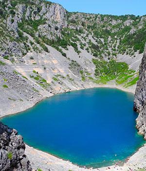 Rondje langs Kroatische meren, Blauwe Meer