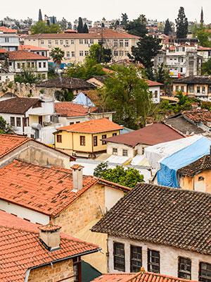 Antalya, Turkije, daken