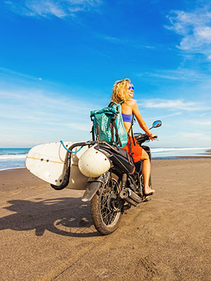 Bucketlist redenen Bali, scooter