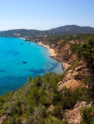Mooiste stranden Ibiza: Aiguas Blanques