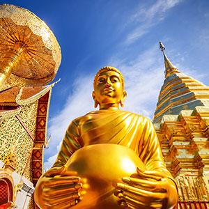 Chiang Mai, Noord-Thailand; Wat Phra That Doi Suthep