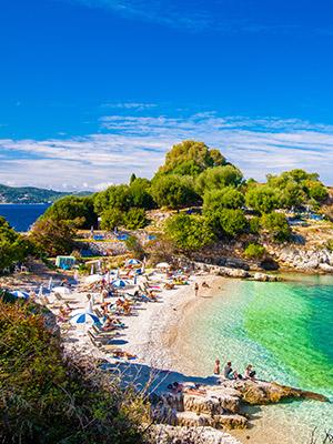 Corfu met kinderen: strand